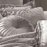 Sicily Piped Pillow Silver Gray 20 Square