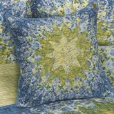 Arcadia Star Patchwork Quilted Pillow Dark Blue 20 Square