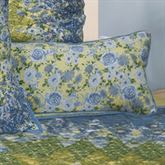 Arcadia Star Floral Piped Pillow Dark Blue Rectangle