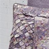 Secret Garden Irish Chain Tailored Pillow Wisteria 16 Square