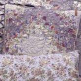 Secret Garden Irish Chain Quilted Pillow Wisteria 18 Square
