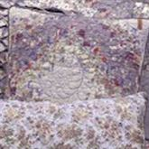 Secret Garden Irish Chain Quilted Pillow Wisteria 18 Square