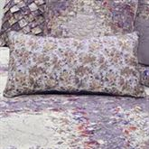 Secret Garden Floral Quilted Pillow Wisteria Rectangle