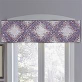 Secret Garden Irish Chain Valance Wisteria 55 x 15