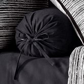Flen Pleated Tailored Pillow Black Neckroll