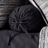 Flen Pleated Tailored Pillow Black Neckroll