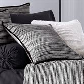 Flen Striped Tailored Pillow Black 20 Square