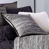 Flen Striped Tailored Pillow Black 20 Square