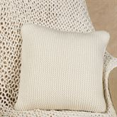 Flen Knitted Tailored Pillow Ivory 16 Square