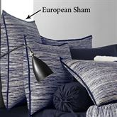 Flen Tailored Sham Indigo European