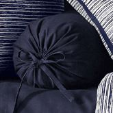 Flen Pleated Tailored Pillow Indigo Neckroll