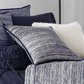 Flen Striped Tailored Pillow Indigo 20 Square