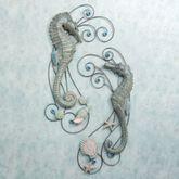 Seahorse Serenade Wall Sculpture Set  Set of Two
