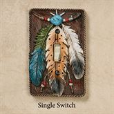 Feathers Single Switch Brown