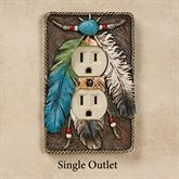 Feathers Single Outlet Brown