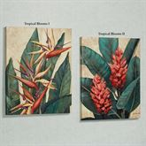 Tropical Bloom Indoor Canvas Set  Set of Two
