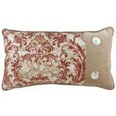 Savannah Damask Piped Pillow Cinnabar Rectangle