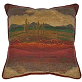 Desert Sunset Piped Pillow Multi Warm 18 Square
