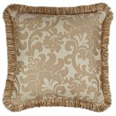 Casablanca Fringed Pillow Light Almond 18 Square