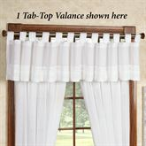 Jasmine Voile Tab Top Valance Off White 72 x 16