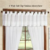 Jasmine Voile Wide Tab Top Valance Off White 90 x 16