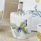 Watercolor Garden Butterfly Lotion Soap Dispenser White