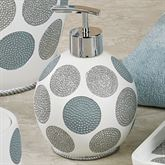 Dotted Circles Lotion Soap Dispenser Off White