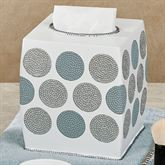 Dotted Circles Tissue Cover Off White