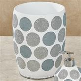 Dotted Circles Wastebasket Off White