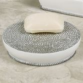 Dotted Circles Soap Dish Off White