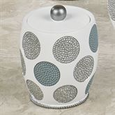 Dotted Circles Covered Jar Off White