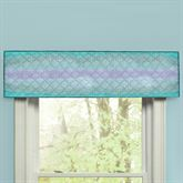 Summer Surf Quilted Tailored Valance Multi Cool 60 x 15