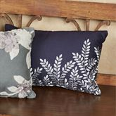 Willow Embroidered Leaf Pillow Midnight Rectangle