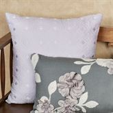 Willow Quilted Pillow Pale Purple 18 Square