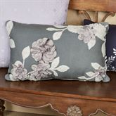 Willow Floral Applique Tailored Pillow Dark Gray Rectangle