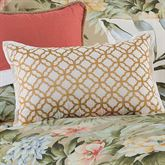 Isla Verde Embroidered Pillow Gold Rectangle