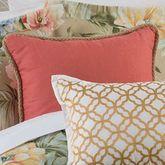 Isla Verde Corded Pillow Crimson 18 Square
