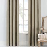 Isla Verde Tailored Curtain Pair Dark Beige 84 x 84