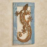 Gecko Southwest Wall Art Blue
