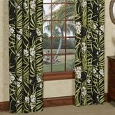 Jamaican Sunset Wide Tailored Curtain Pair Black 100 x 84