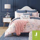 Beatrice Mini Comforter Set Salmon