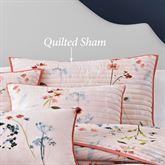 Beatrice Quilted Sham Salmon