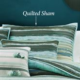 Cordoba Forest Quilted Sham Green