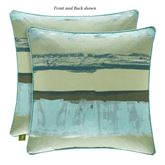 Cordoba Forest Reversible Piped Pillow Green 18 Square