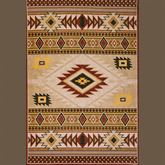 Desert Sun Rectangle Rug Multi Earth