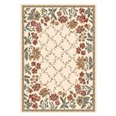 Garden Trellis Rectangle Rug Cream