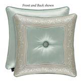 Genevieve Tufted Pillow Aqua Mist 18 Square