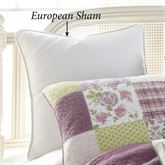 Forget Me Not Piped Sham White European