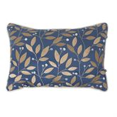 Janine Jeweled Embroidered Pillow Federal Blue Rectangle