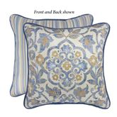Janine Reversible Medallion Pillow Federal Blue 18 Square